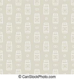 packaging of drugs and pills pattern - Seamless pattern with...