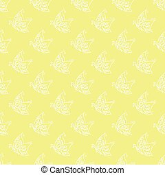 butterflies pattern - Seamless pattern with flying...
