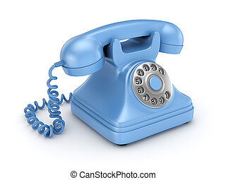 3d rendered retro telephone - 3d rendered retro telephone...