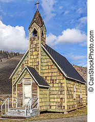 Old Wooden Church Building - Historic but neglected country...