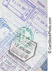 US Passport Visas Stamps