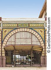 abandonado, ferrocarril, estación, de, Dakar,