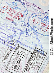 US Passport Visa Stamps to Cambodia, China and Thailand - US...
