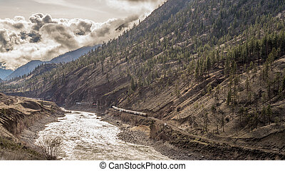 Railway Tracks through the Canyon - Railroads Winding...