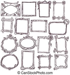 doodle frames - Great collection of different hand drawn...