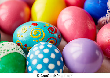 Assortment of Easter eggs - Various Easter eggs with...