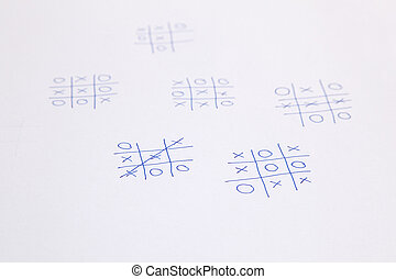 Noughts and crosses games tick tack toe