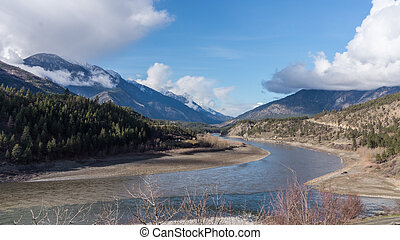 The Fraser River near Lytton - A quiet section of the Fraser...