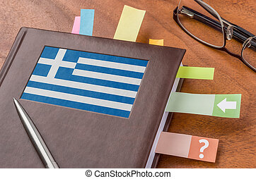 Notebook with the flag of Greece