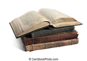 The old opened book is christian Psalter - 19st century...