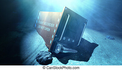 Flight Recorder Under The Sea - A regular aviation flight...