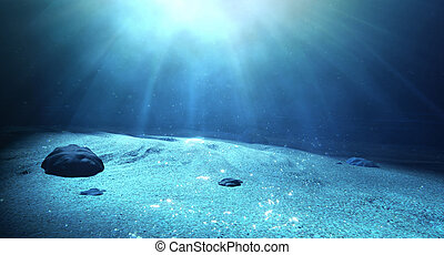 Underwater Sea Floor - An underwater scene at the bottom of...