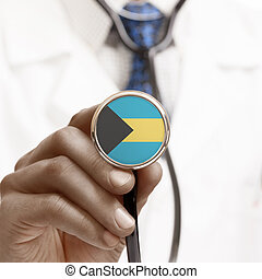 Stethoscope with national flag conceptual series - Bahamas