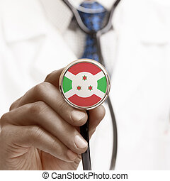 Stethoscope with national flag conceptual series - Burundi