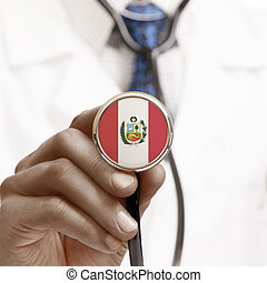 Stethoscope with national flag conceptual series - Peru