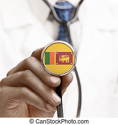 Stethoscope with national flag conceptual series - Sri Lanka