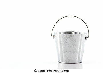 Metal zinc bucket - Metal zinc bucket on white background