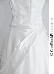 Wedding Gown - White wedding gown on gray background