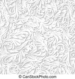 Pattern - Illustration of seamless abstract white floral and...
