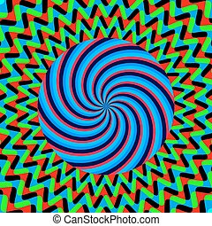 hypnotic bright poster