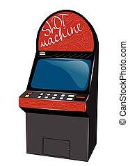 slot machine isolated on awhite background