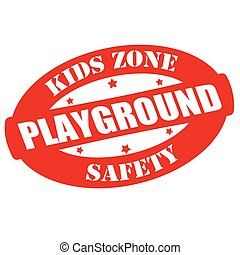 Kids zone - Stamp with text kids zone inside, vector...