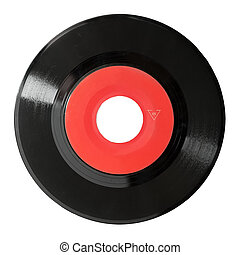 vinyl record - seven inch 45 rpm vinyl record isolated on...