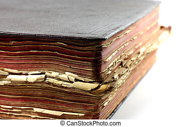 old Bible - Old book on white background