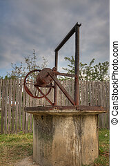 Rural well at countryside