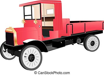Veteran Truck - A Red Veteran Truck or Pick-up from the...