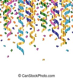 Vector Party Background - Vector Illustration of Colorful...