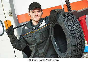tire repairman auto mechanic