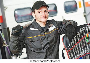 Repairman auto mechanic - repairman auto mechanic portrait...