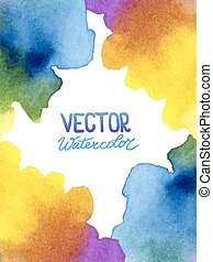 Abstract watercolor background for your design. Eps 8...
