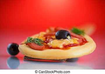 mini, pizza,