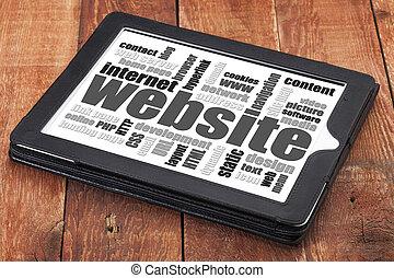 Websajt, ord, moln