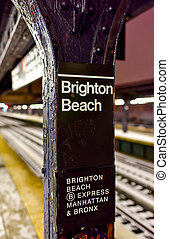 Brighton Beach Subway Station - Brighton Beach MTA Subway...