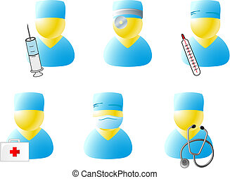 Symbols of doctors - Web symbols of doctors for design...