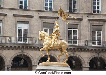 Joan of Arc - Gilded bronze statue of Joan of Arc on the Rue...