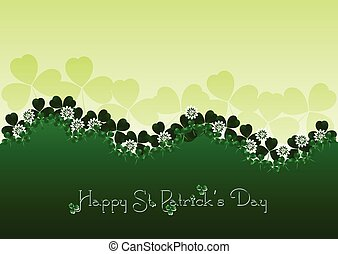 Holiday card on St Patricks Day March 17 - day of good luck,...