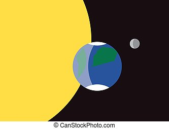 Planet Earth Flag Symbol - A planet Earth flag design