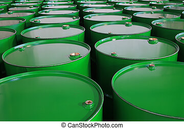 barrels - metal barrels of green color