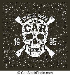 Car skull emblem