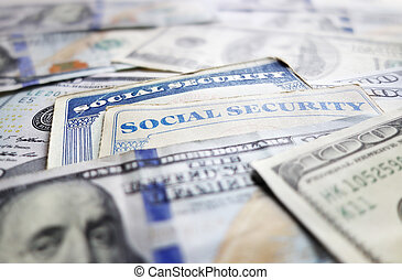 Social Security cards and assorted cash...