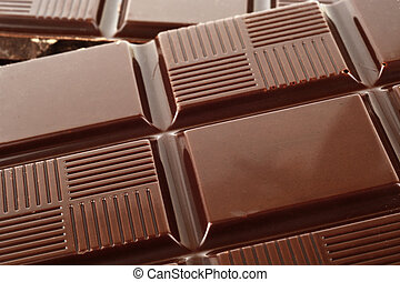 Close-up view of tablet of clear chocolate - Close up view...