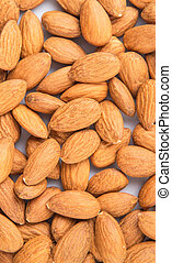 Almond Nut - Raw almond nut close up view