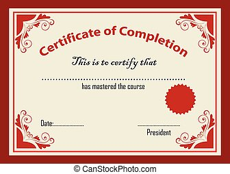 Certificate template vector illustration.