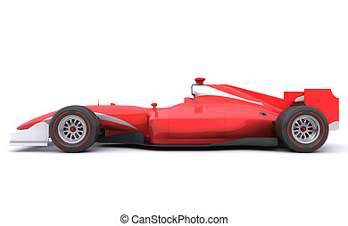 Formula race red car. Side view - Formula race red car...