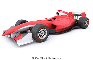 Formula race red car designed by myself