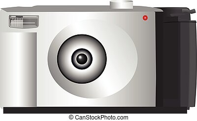 Digital camera vector illustration.